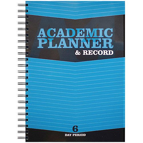 Silvine Teacher's Academic Planner and Record 6 Period Day Blue EX202