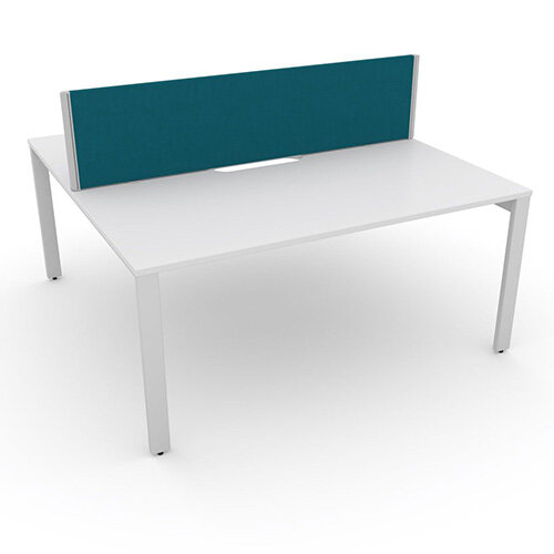 Switch 2 Person Bench Desk With Privacy Screen W 1400mm x D 2x800mm