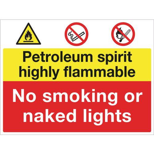 Sign Petroleum Spirit No Smoking 600x450 Aluminium