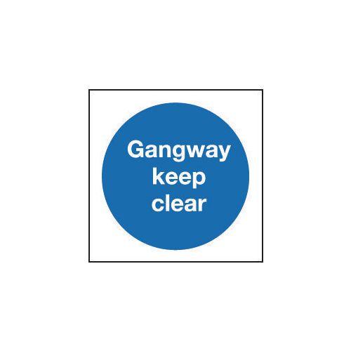 Sign Gangway Keep Clear 200x200 Aluminium