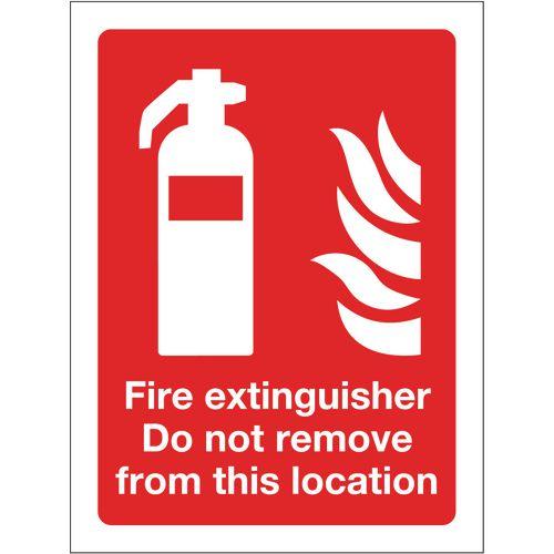 Sign Fire Extinguisher Do Not Remove 300x400 Aluminium