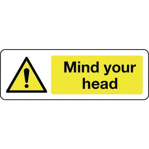 Sign Mind Your Head 300x100 Aluminium