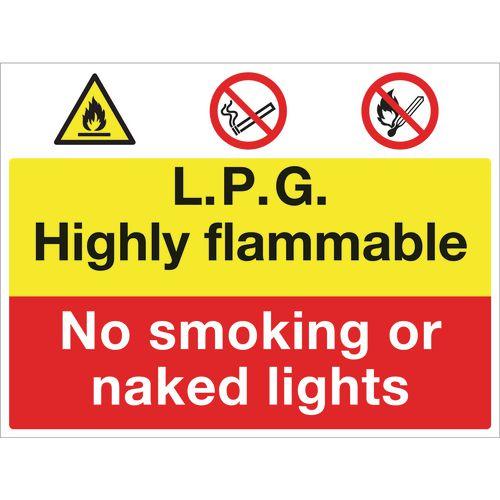 Sign Lpg Highly Flammable 600x450 Aluminium