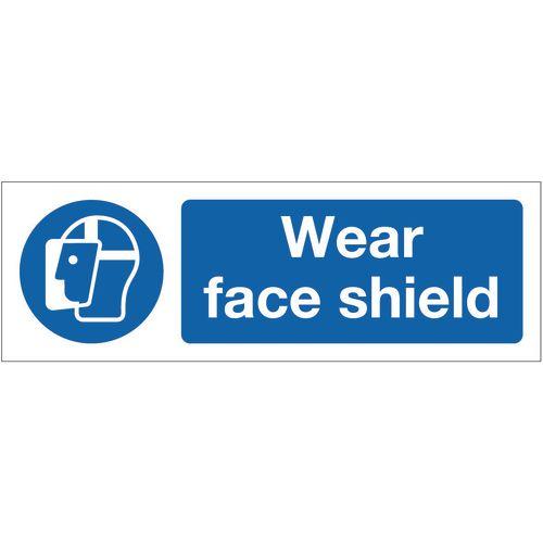 Sign Wear Face Shield 300x100 Aluminium