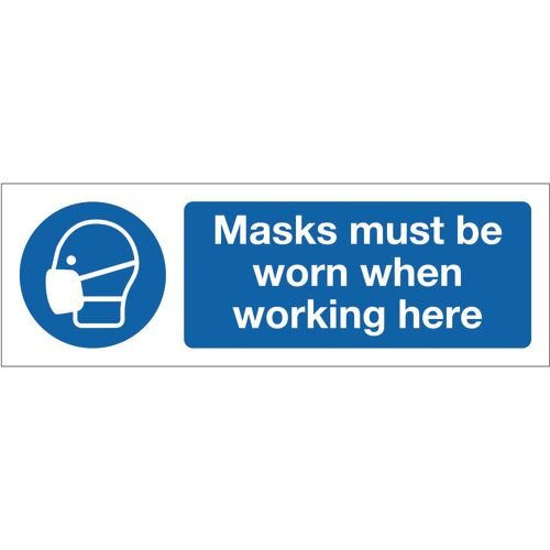 Sign Masks Must Be Worn 300x100 Aluminium