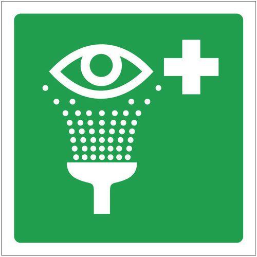 Sign Eye Wash Pictorial 100x100 Aluminium