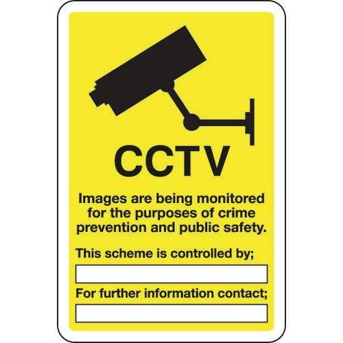 Sign Cctv Images Are Being Monotored 300x400 Aluminium