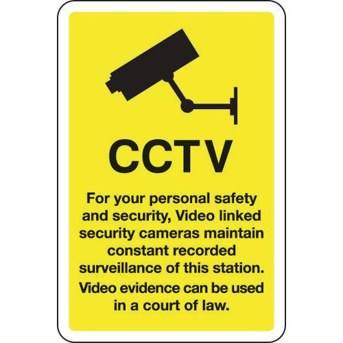 Sign Cctv For Your Personal Safety And Security 200x300 Aluminium