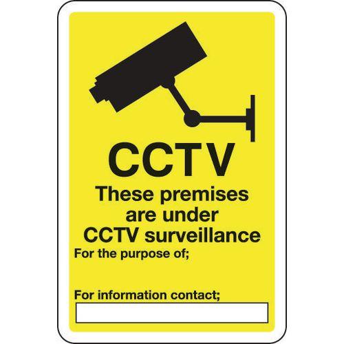 Sign Cctv These Premises Are 200x300 Aluminium