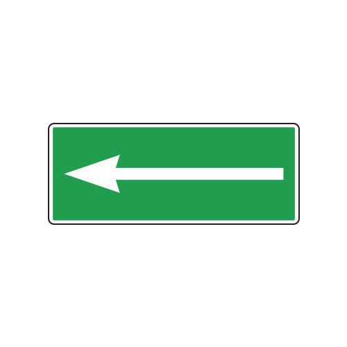 Sign Arrow 250x100 Aluminium