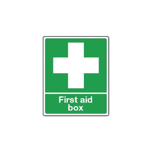 Sign First Aid Box Aluminium 75x100