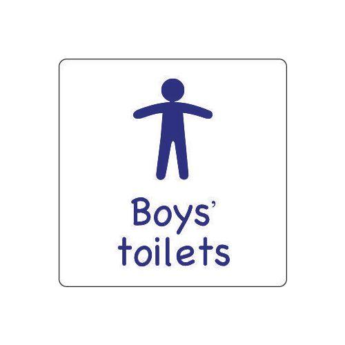 Sign Boys Toilet Aluminium 150x150