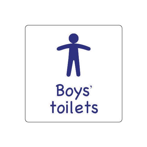 Sign Boys Toilet Aluminium 300x300