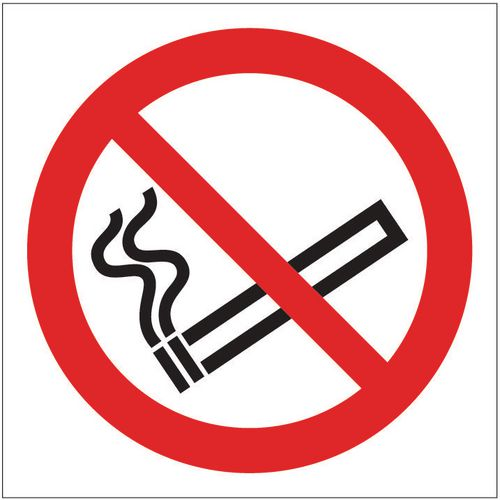Sign No Smoking Pictorial 400x400 Rigid Plastic