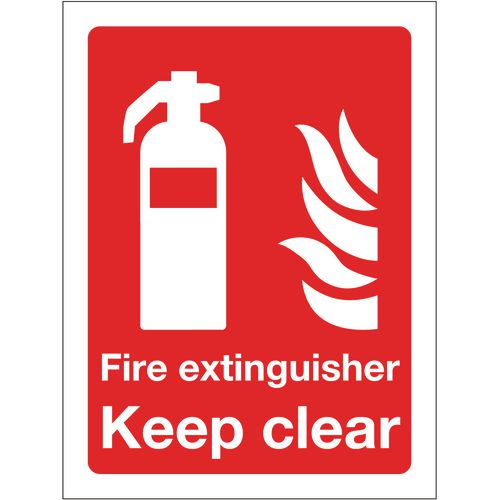 Sign Fire Extinguisher Keep Clear 150x200 Rigid Plastic