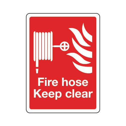 Sign Fire Hose Keep Clear 300x400 Rigid Plastic