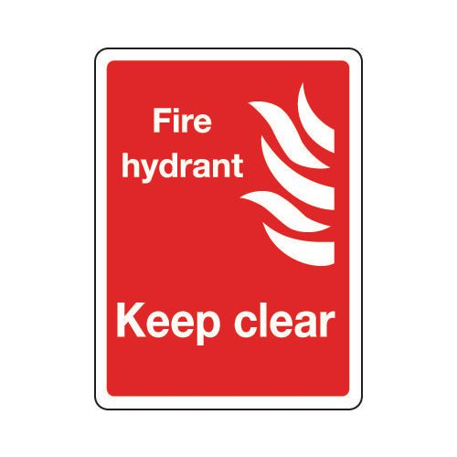 Sign Fire Hydrant Keep Clear 300x400 Rigid Plastic