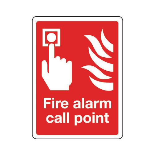 Sign Fire Alarm Call Point 150x200 Rigid Plastic