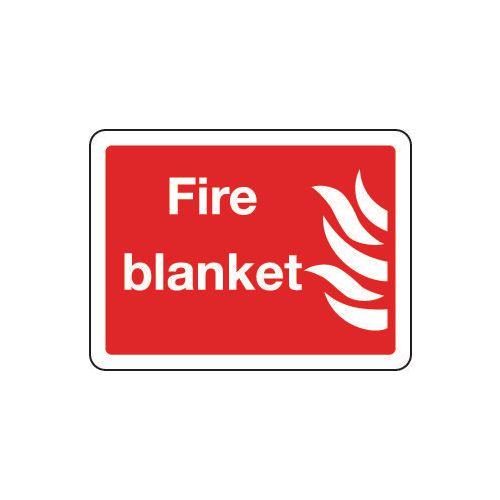 Sign Fire Blanket 200x150 Rigid Plastic