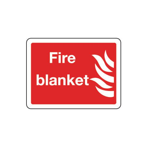 Sign Fire Blanket 300x250 Rigid Plastic