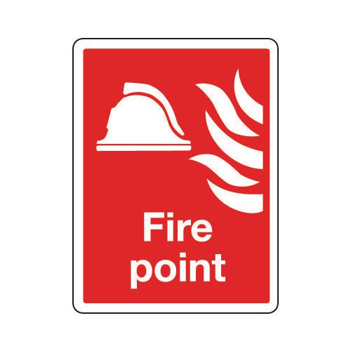 Sign Fire Point 150x200 Rigid Plastic