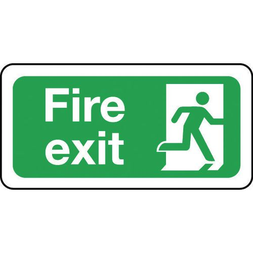 Sign Fire Exit 200x100 Rigid Plastic