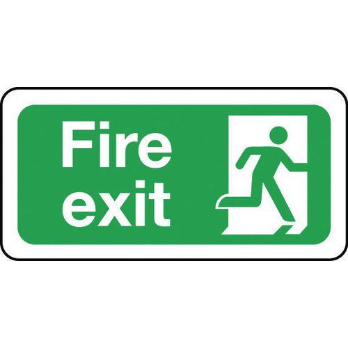Sign Fire Exit 200x100 Rigid Plastic