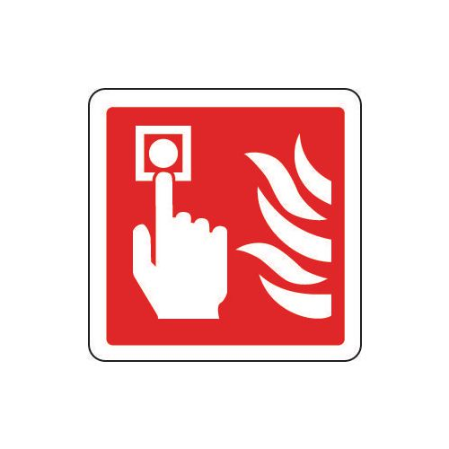 Sign Fire Alarm Pictorial 80x80 Rigid Plastic