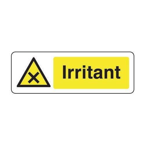 Sign Irritant 300x100 Rigid Plastic