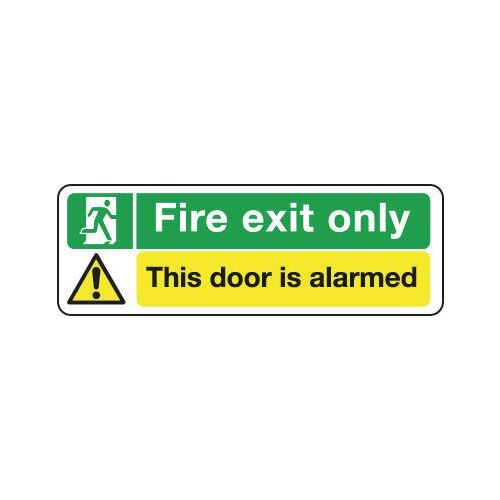 Sign Fire Exit Only This Door Is..600X200 R/D Plastic