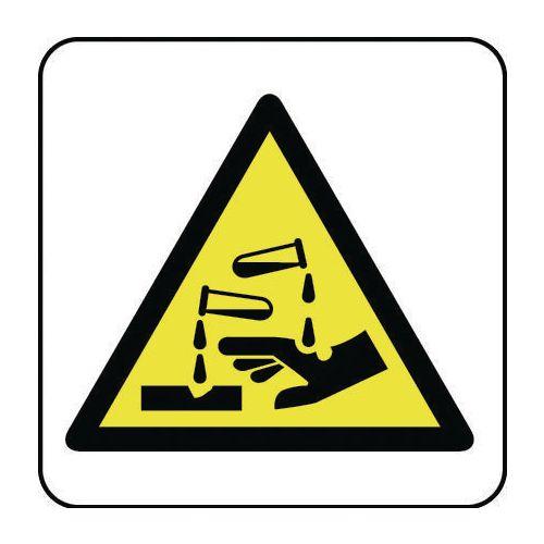 Sign Chemical Hazard Pic 100x100 Rigid Plastic