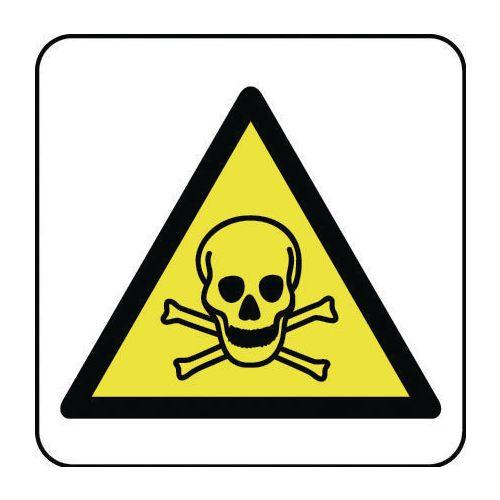 Sign Toxic Hazard Pictorial 400x400 Rigid Plastic