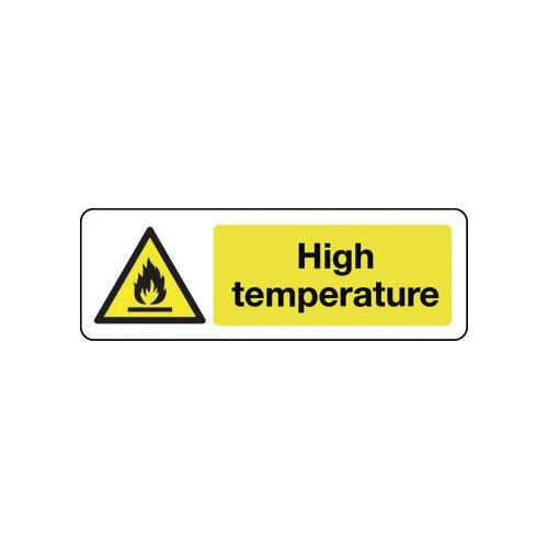 Sign High Temperature Rigid Plastic 300x100