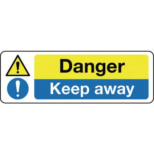 Sign Danger Keep Away 600x200 Rigid Plastic