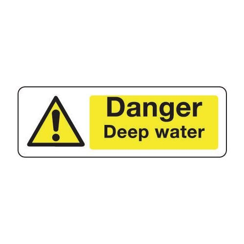 Sign Danger Deep Water 300x100 Rigid Plastic