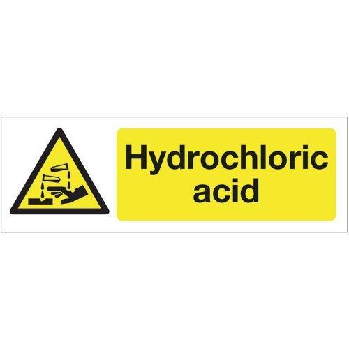 Sign Hydrochloric Acid 300x100 Rigid Plastic