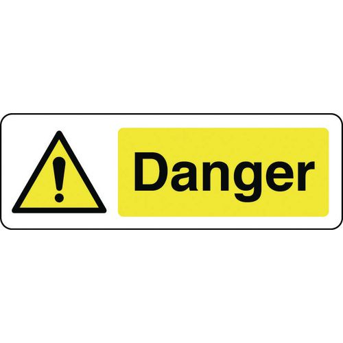 Sign Danger 600x200 Rigid Plastic
