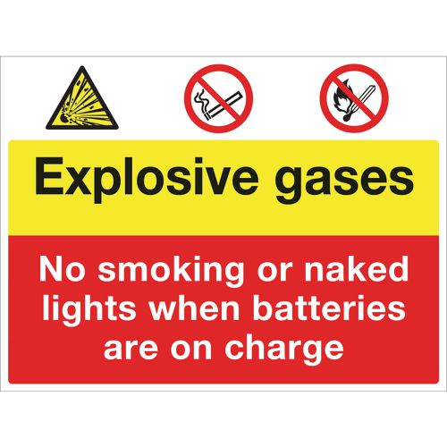 Sign Explosive Gases 400x300 Rigid Plastic