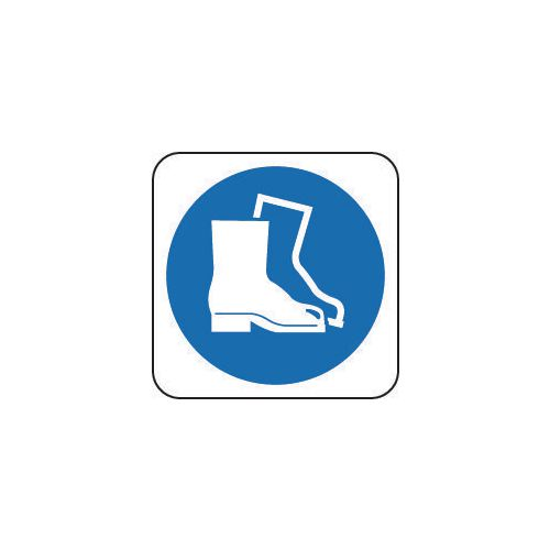 Sign Safety Footwear Pic 100x100 Rigid Plastic