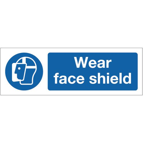 Sign Wear Face Shield 400x600 Rigid Plastic