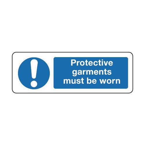 Sign Protective Garments Must 300x100 Rigid Plastic
