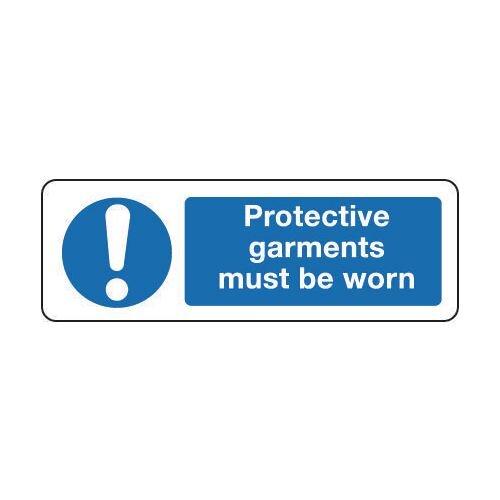 Sign Protective Garments Must 600x200 Rigid Plastic
