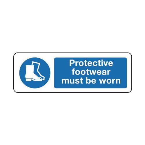 Sign Protective Footwear 300x100 Rigid Plastic