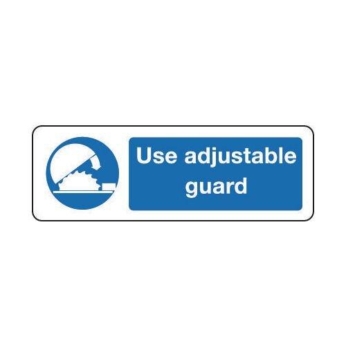 Sign Use Adjustable Guard 600x200 Rigid Plastic
