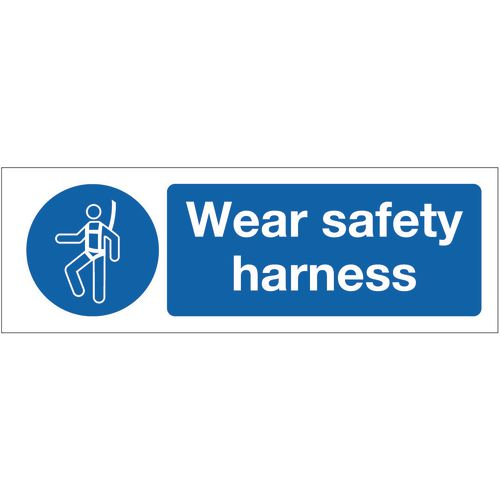 Sign Wear Safety Harness 400x600 Rigid Plastic