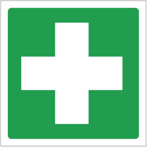 Sign First Aid Symbol 400x400 Rigid Plastic