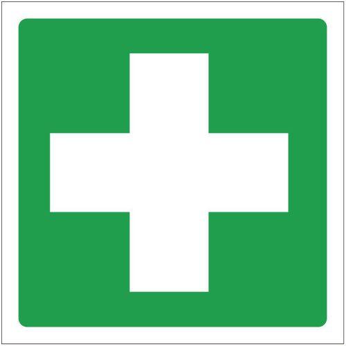 Sign First Aid Symbol 400x400 Rigid Plastic