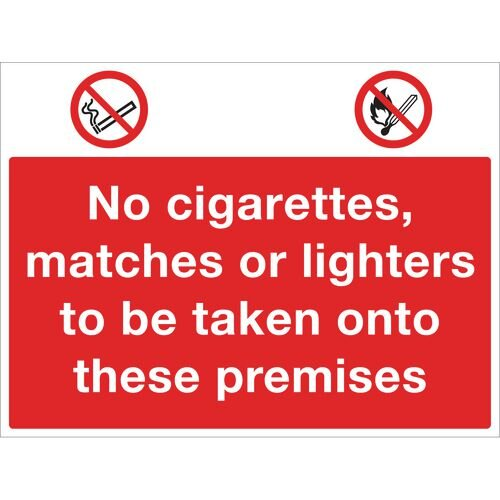 Sign No Cigarettes 400x300 Rigid Plastic