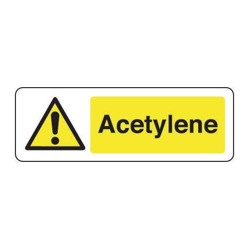 Sign Acetylene 600x200 Rigid Plastic