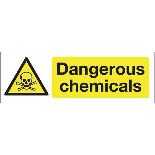 Sign Dangerous Chemicals 300x100 Rigid Plastic